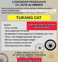 Bursa Kerja Surabaya di CV. Duta Alumindo Agustus 2020