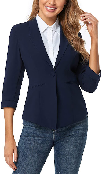 Navy Blue Blazers For Women