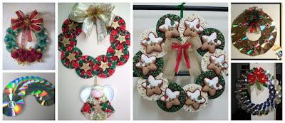 coronas-navideñas-con-cds-reciclados