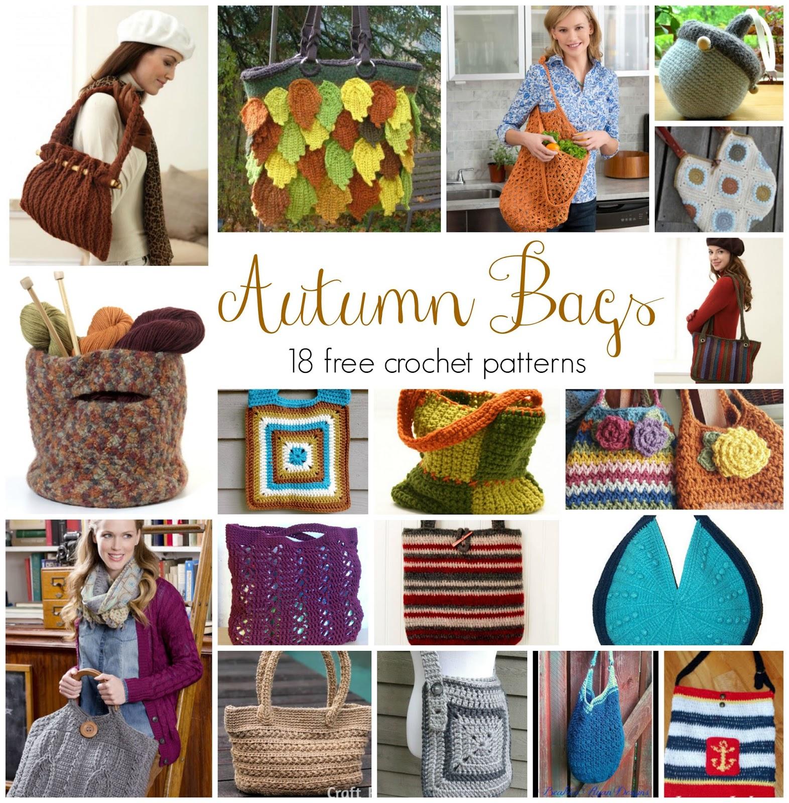 Fiber Flux: Autumn Bags! 18 Free Crochet Patterns...