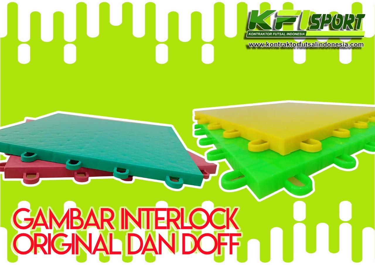 Gambar Interlock Futsal Original dan Doff