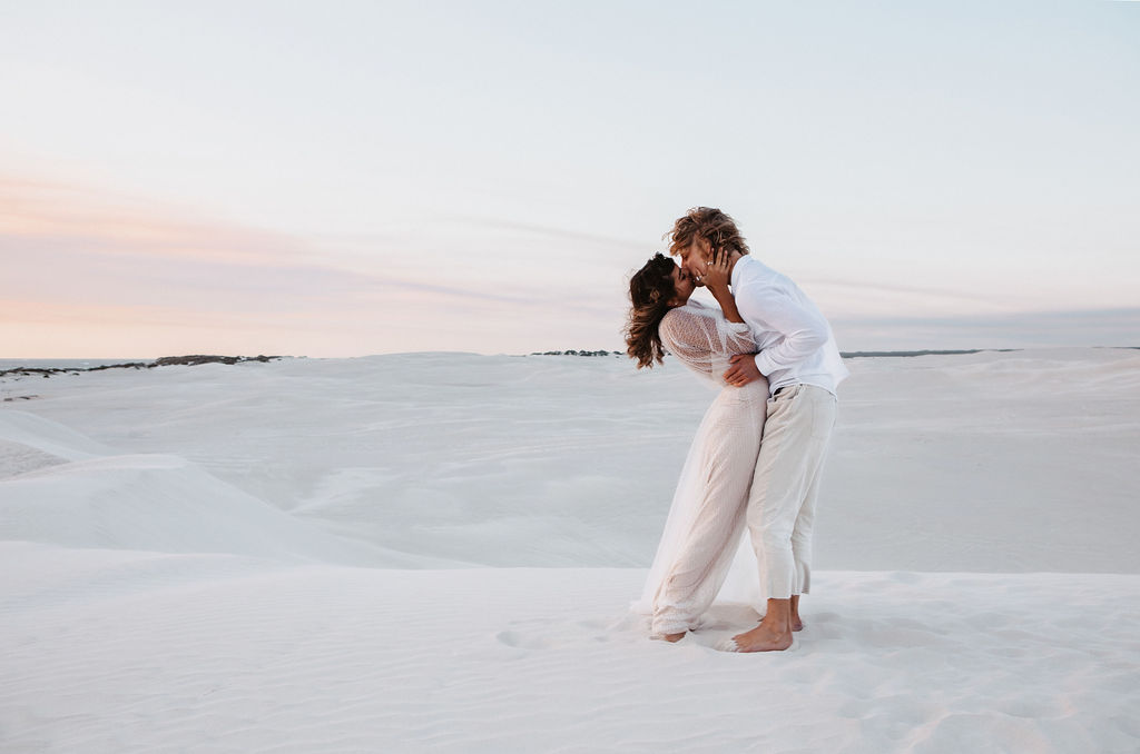 Jypsea photography perth weddings sand dunes elopement bridal gowns hair makeup florals styled boho