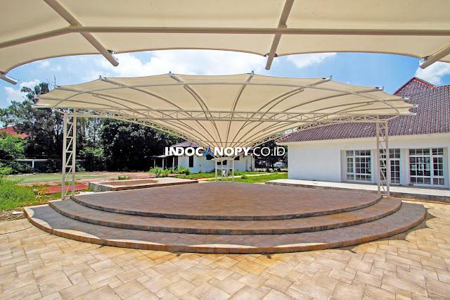 kanopi membran panggung di karawang