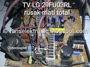 mengatasi tv lg rusak tidak ada tegangan