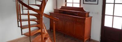 wooden spiral stairscase