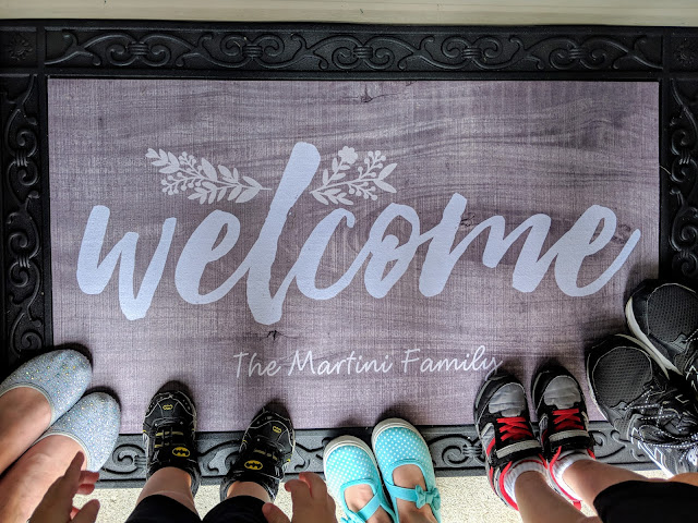 personalized decor, personalized welcome mat, family, rustic welcome mat, fall decor, gift ideas