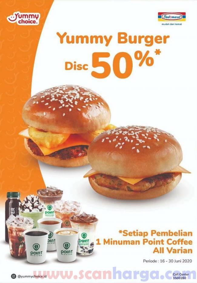 Promo Yummy Choice Yummy Burger Diskon 50% Periode 16 - 30 Juni 2020