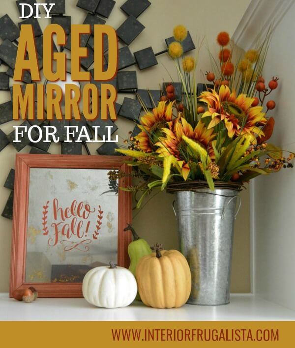 DIY Aged Mirror