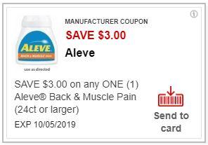 "Load ""ONE"" $3.00/1 Aleve Back & Muscle Pain (24 ct +)  CVS APP ONLY MFR Coupon (cvs.com/App)"