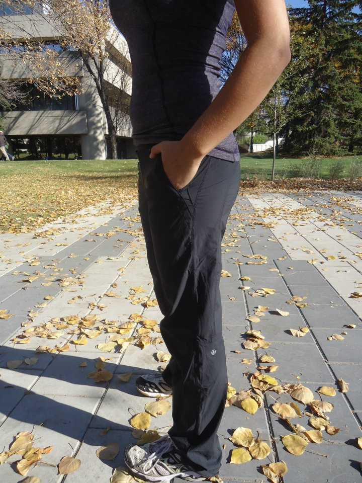 e86f3482f8 New Dog Runner pant made of stretchable, water resistant Glyde outer layer  and an inner running tight made of running luon. Posted by LuluAddict ...