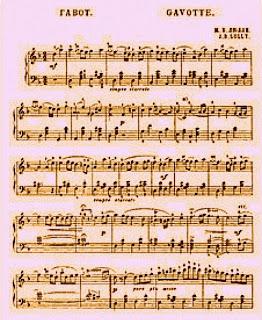 """Partitura de """"Gavotte"""" - Jean-Baptiste Lully"""