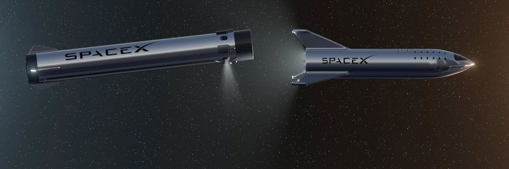 SpaceX Starship separating from Super Heavy booster