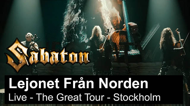 "Sabaton - ""Lejonet Från Norden"" (Live - The Great Tour - Stockholm)"
