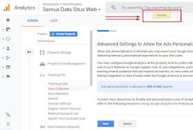 aktivasi tracking data demografi google analytic