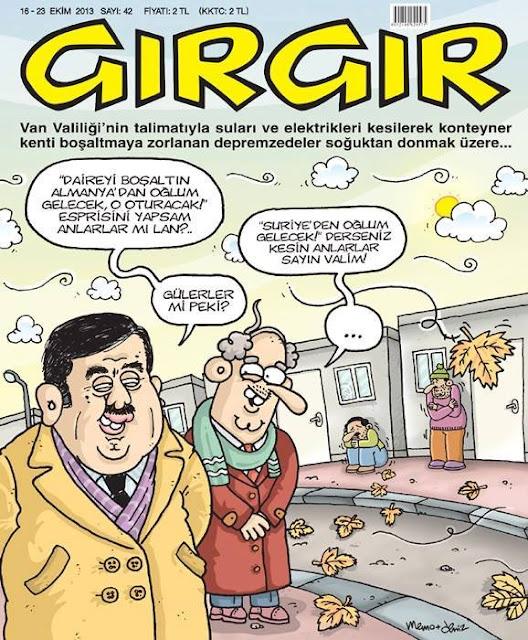 Gırgır Dergisi - 18-23 Ekim 2013 Kapak Karikatürü