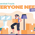 10 Essential Tools Everyone Needs At Home #infographic