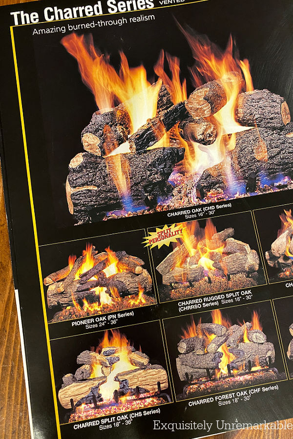 Real Fyre Charred Series page in catalog