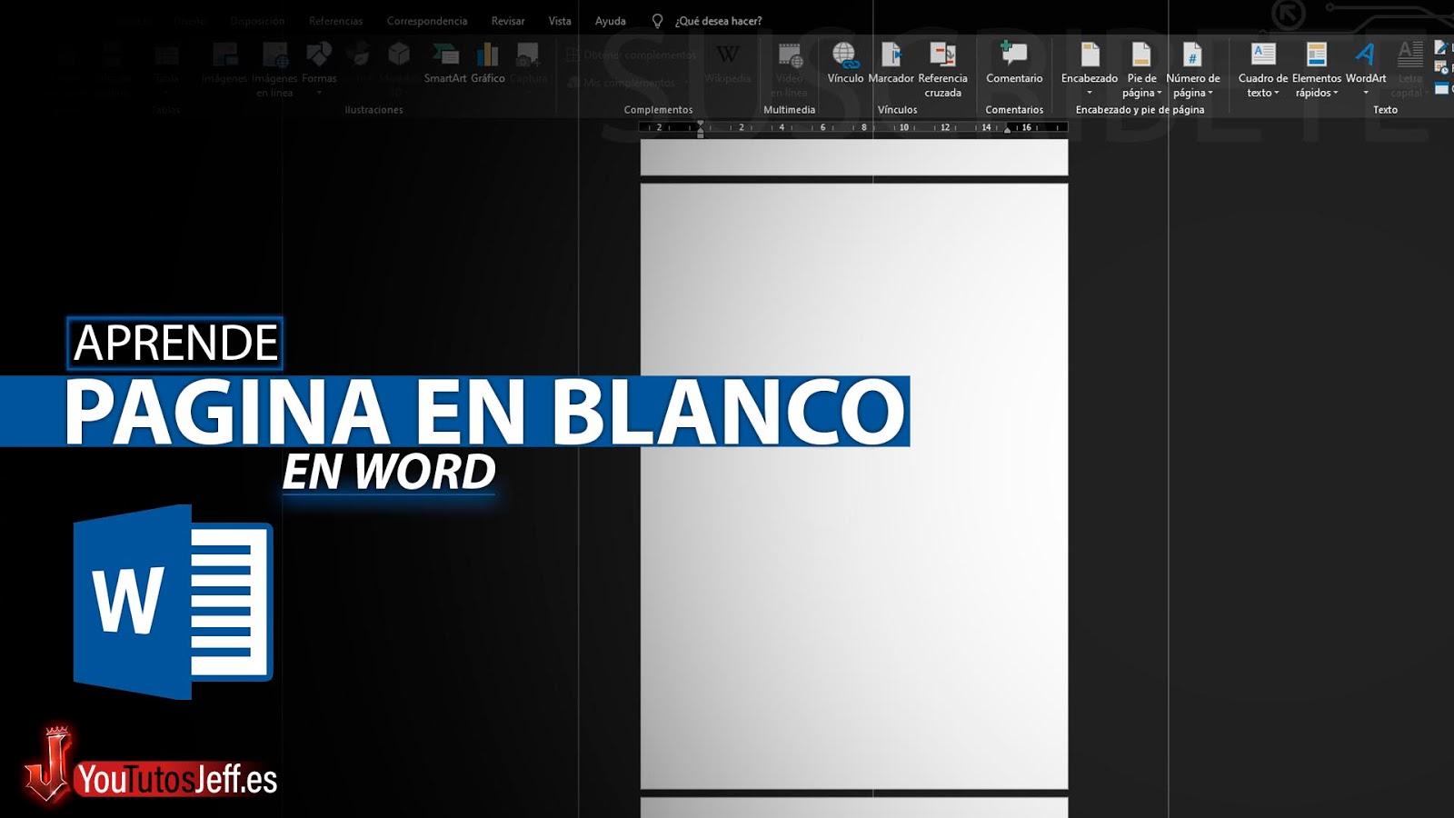 Como Insertar una Pagina en Blanco en Word