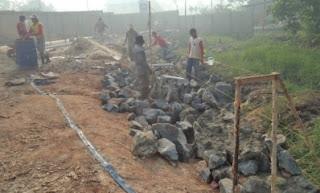 dinding penahan tanah, dpt, oprit jembatan pasangan batu
