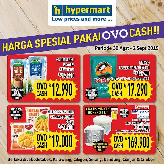 #Hypermart - #Promo Harga Special Pakai OVO Cash (s.d 02 Sept 2019)