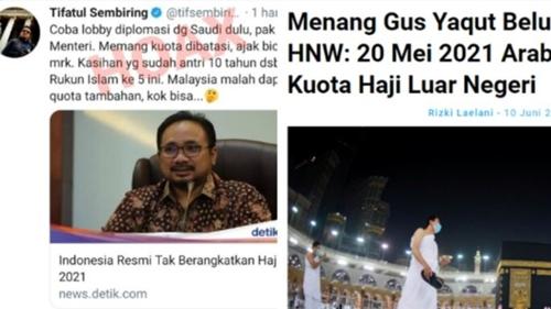 Selain HNW, Netizen Juga Ungkit Hoax Tifatul Sembiring Soal Haji