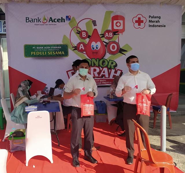 Aksi Peduli Sesama : Bank Aceh Syariah Gelar Donor Darah