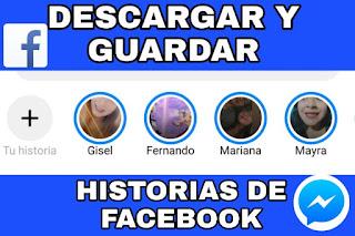guardar historias de facebook