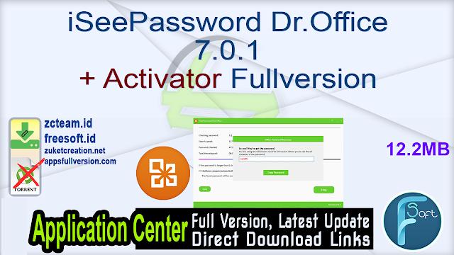 iSeePassword Dr.Office 7.0.1 + Activator Fullversion