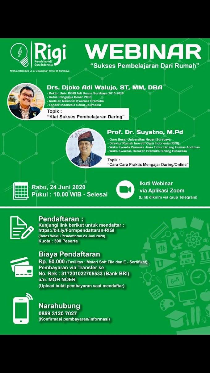 Undangan Webinar Rumah Inovatif Guru Indonesia (RIGI)