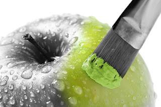 pseudoalimento manzana pintada