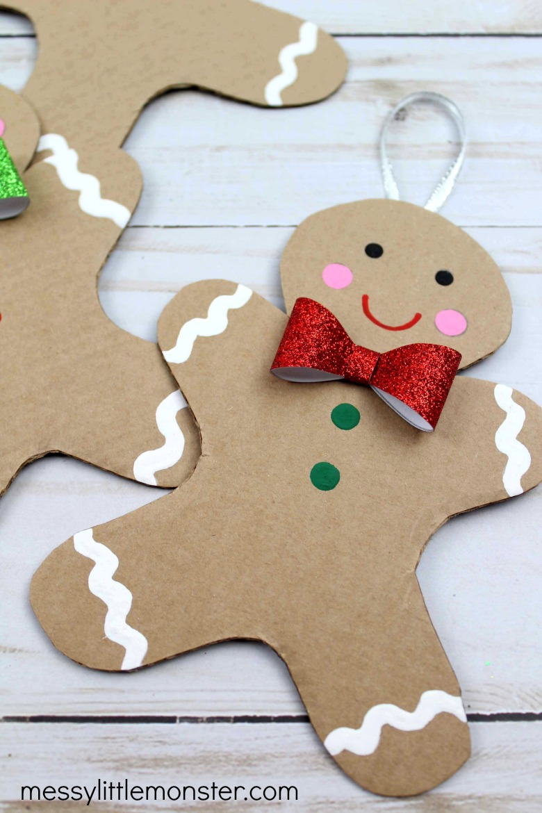 cardboard gingerbread man craft for kids
