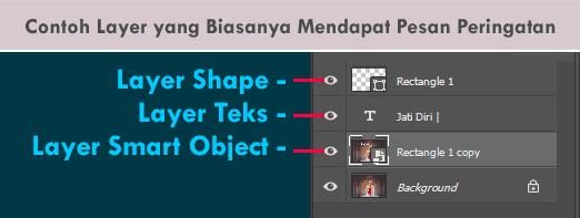 Contoh layer di Photoshop yang mengandung data vektor