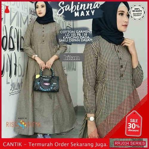 Jual RRJ034D321 Dress Katun Kotak Wanita Sabina Maxy Sk BMGShop