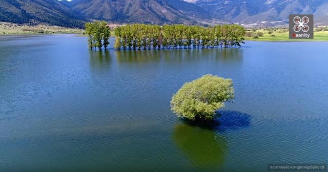 Στυμφαλία: Η μυθική λίμνη όπου ο Ηρακλής σκότωσε τις Στυμφαλίδες Όρνιθες (βίντεο drone)