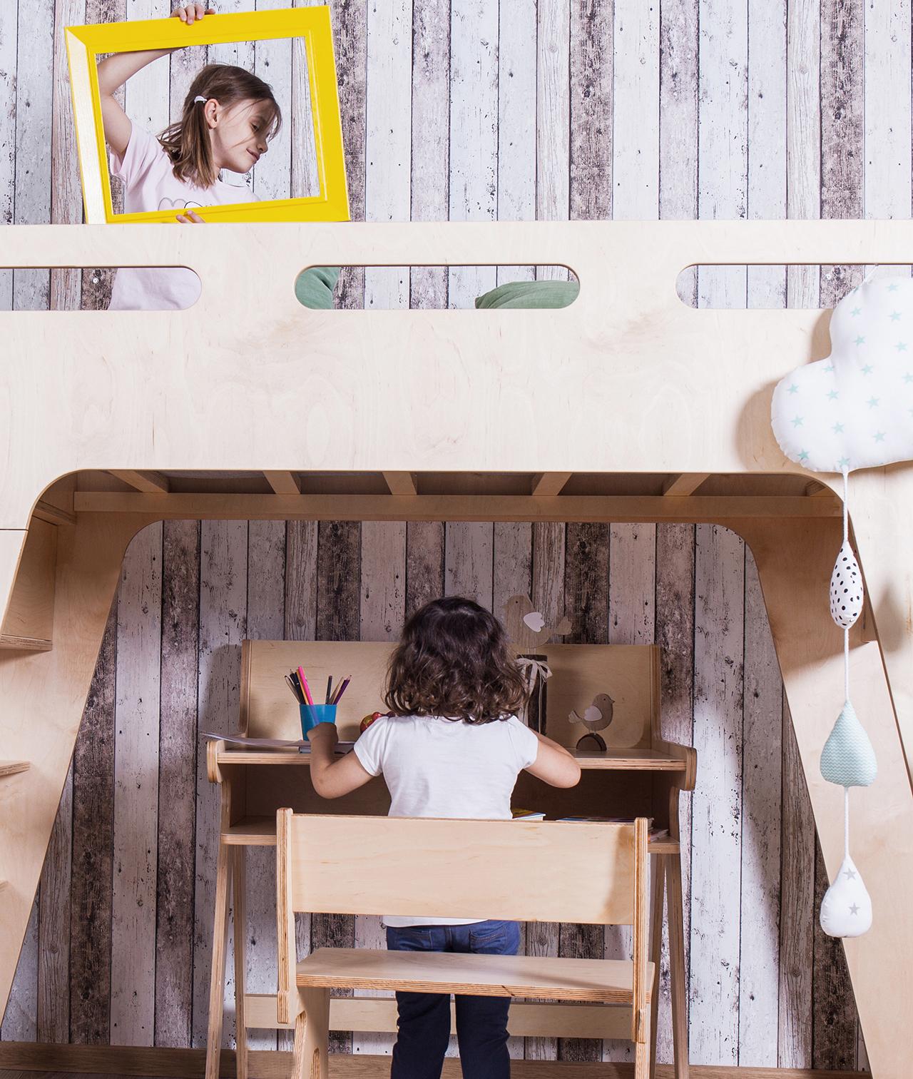 Piętrowe łóżko dla dziecka