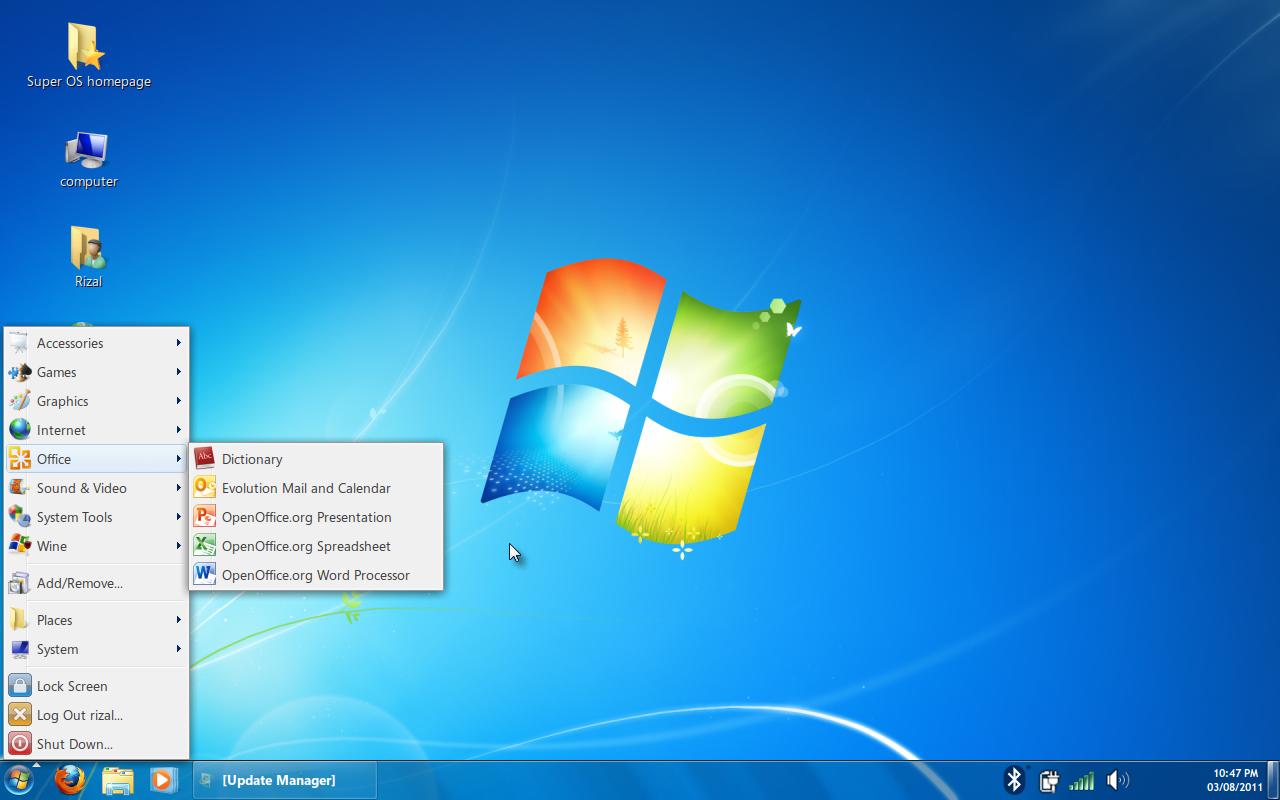 forshareall - blog: Linux like window seven