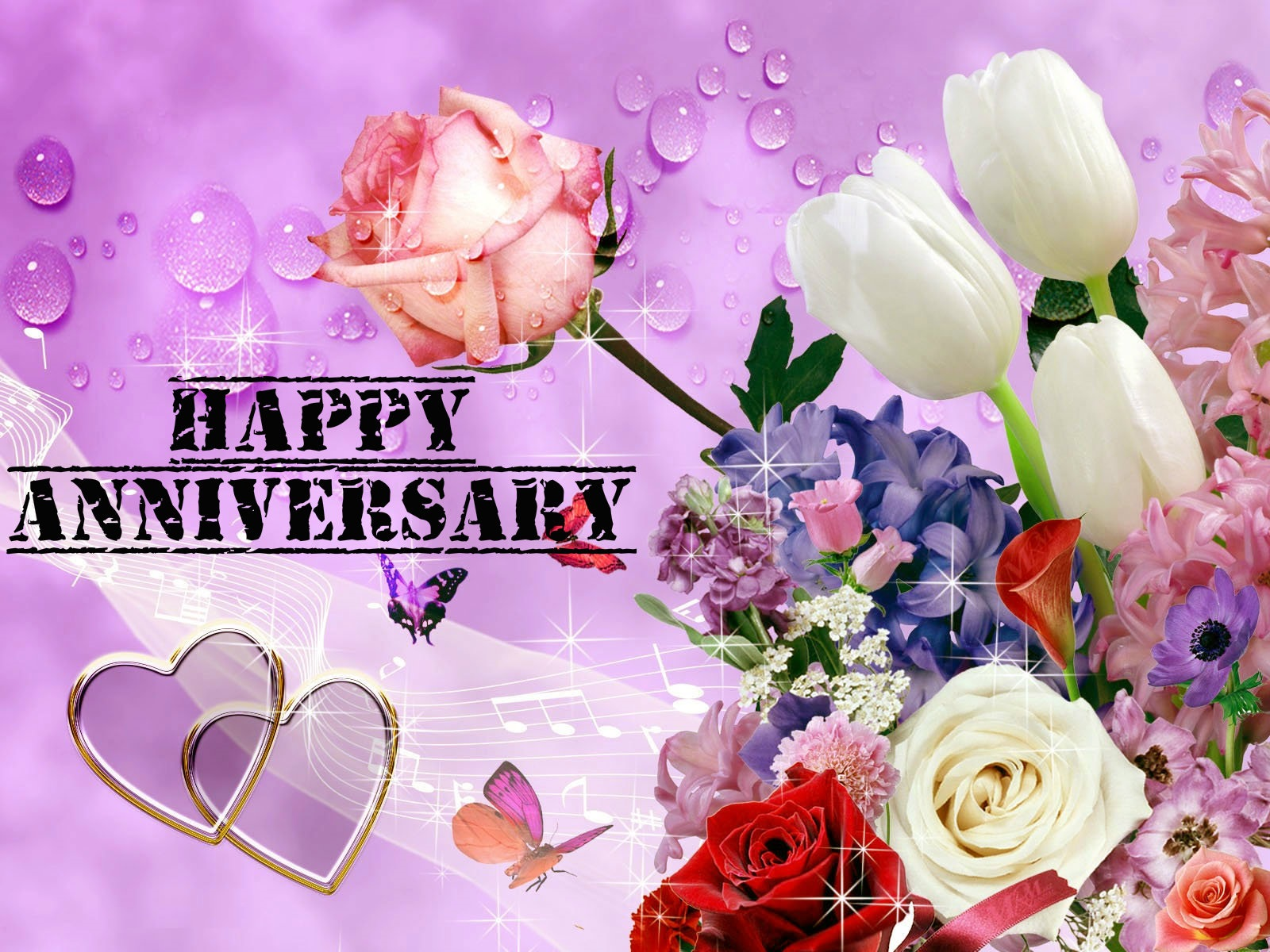 Awesome anniversary pink flowers images download