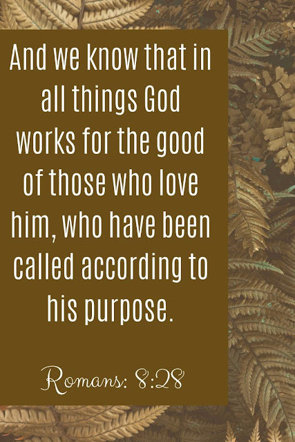 Bible Verse | And We Know That In All Things God Works For The Good Of Those Who Love Him