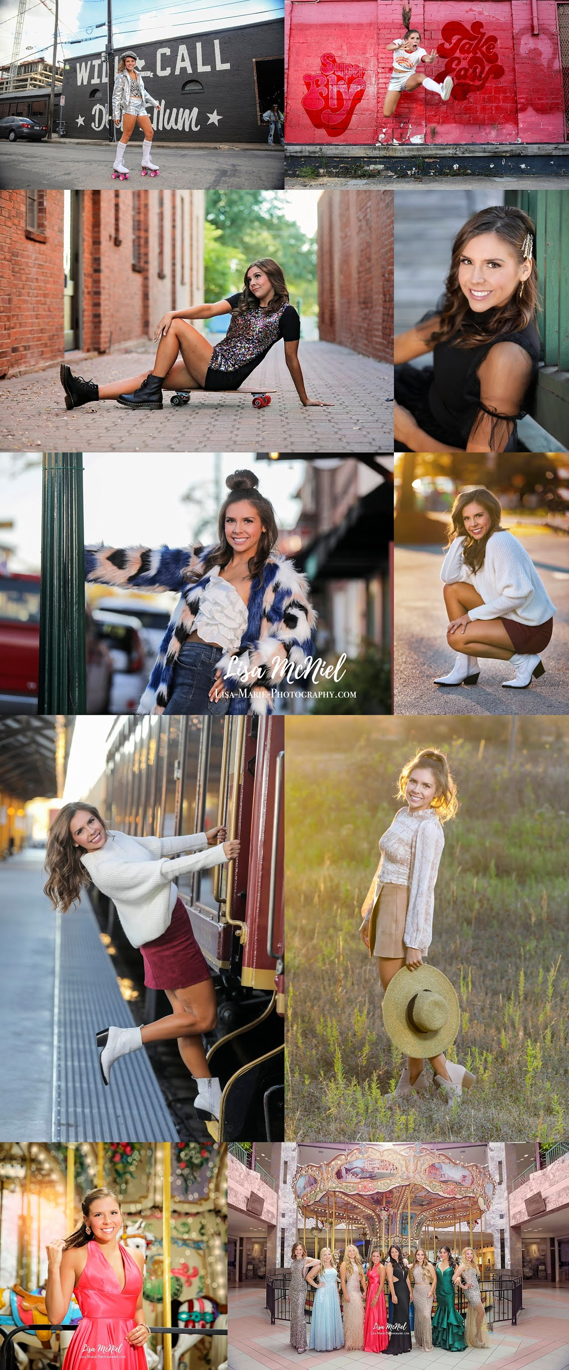 teen girl fun portraits