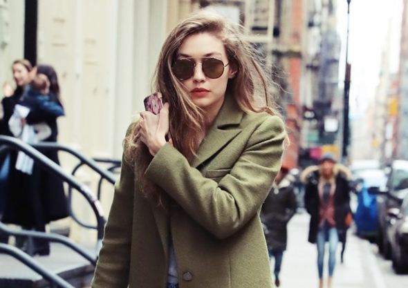 2017-01-27 ジジ・ハディッド(Gigi Hadid) ニューヨークにて。