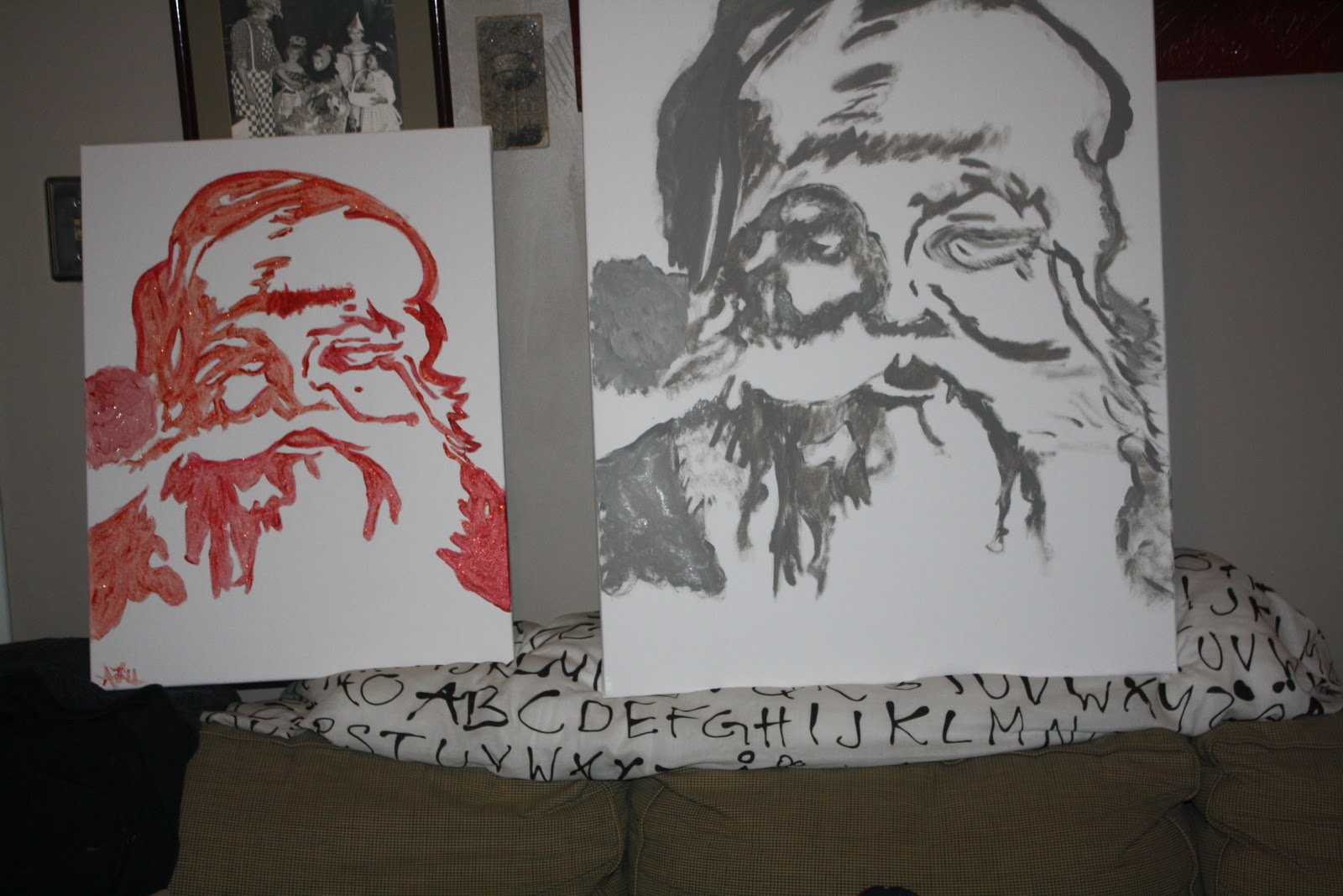 I Have A Big Story To Tell Santa Baby Canvas