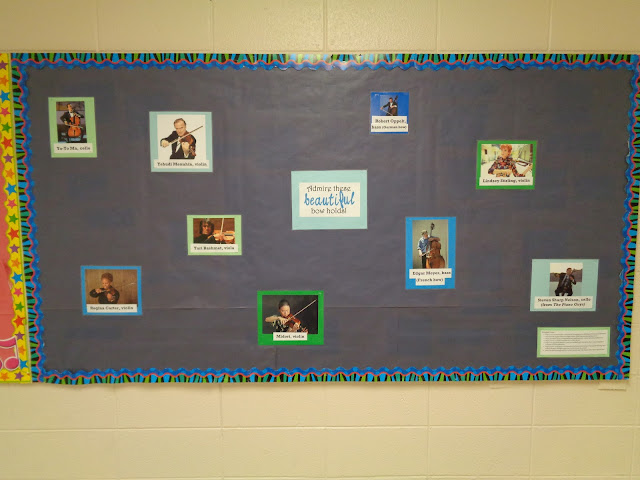 Admire these beautiful bow holds bulletin board elementary orchestra