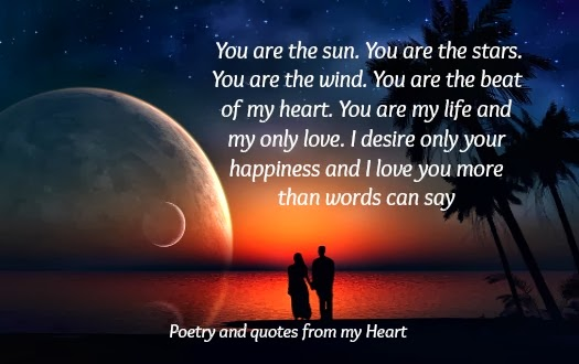 Poetry And Quotes From My Heart You Are The Sun You Are The Stars