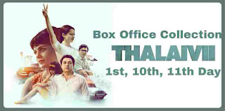 Thalaivii 2021 Movie Box office Collection, 1st day, 10th day Collection, Hit Or Flop