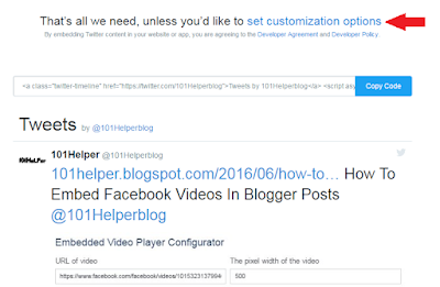 how to embed twitter widget in blogger