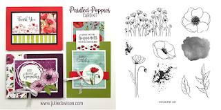 Stampin' Up! Painted Poppies Card Kit  ~ 2020 Spring Mini Catalog ~ Stamp of the Month Club Card Kit ~ www.juliedavison.com