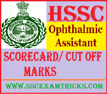 HSSC Ophthalmic Assistant Answer Keys cut off