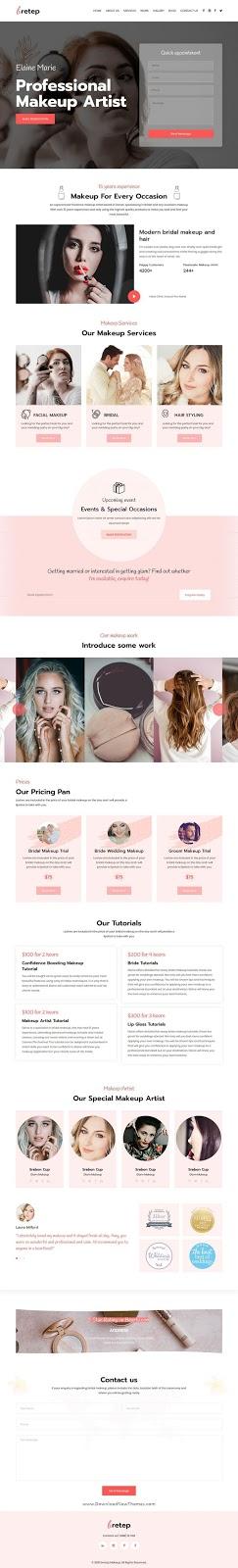 Makeup Artist Responsive HTML Template