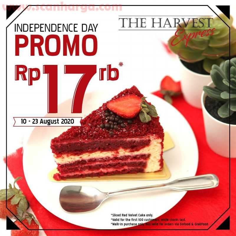 Promo The Harvest Merdeka Red Velvet Slice Rp17Rb