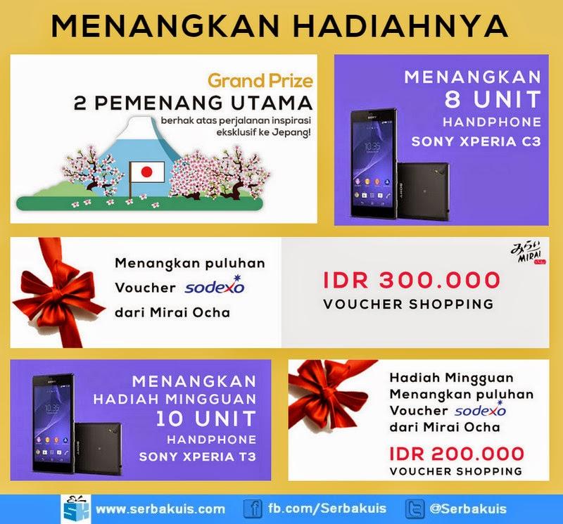 Kontes Mirai Ocha AsliSama Berhadiah 18 Sony Xperia
